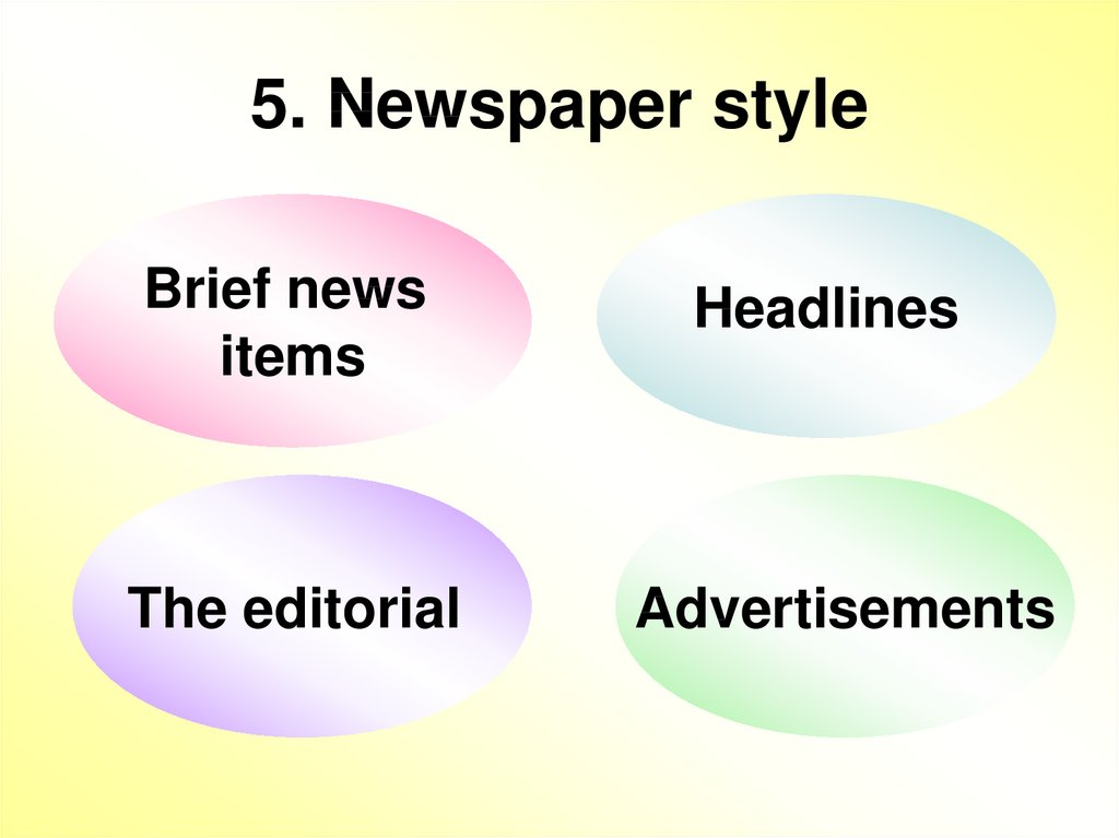 5. Newspaper style