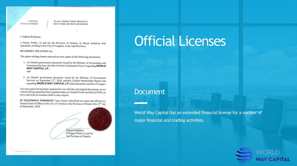 Official Licenses