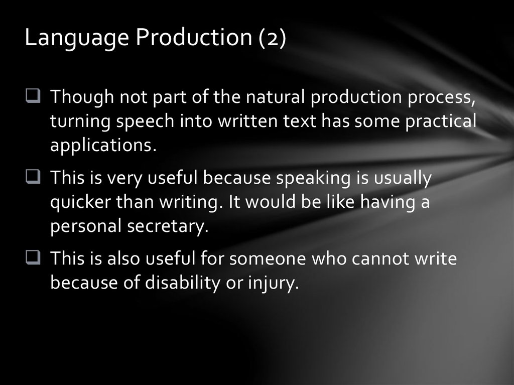 Language Production (2)