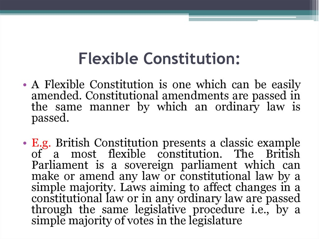 Flexible Constitution: