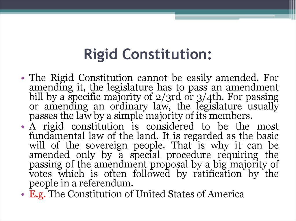 Rigid Constitution: