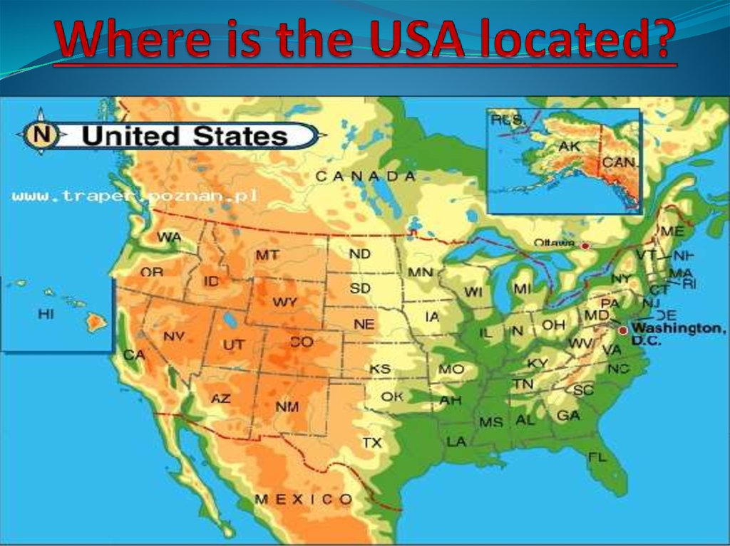Where is the USA located?