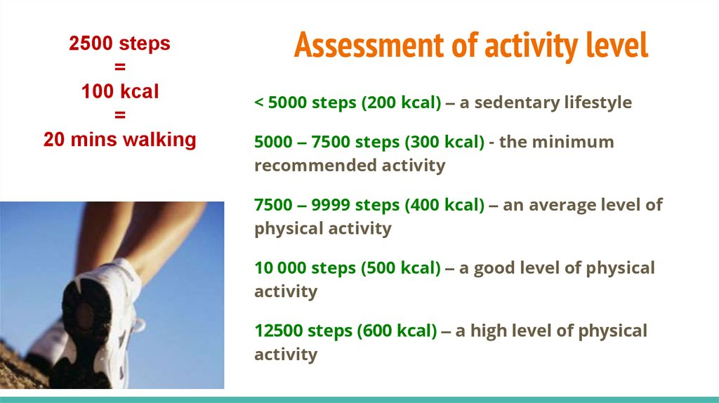 Assessment of activity level