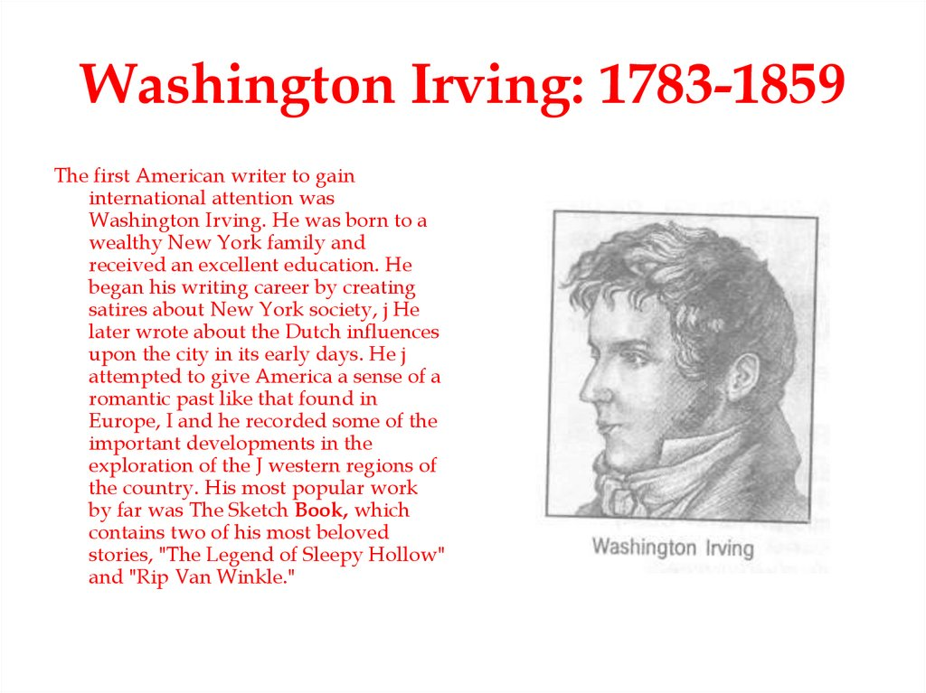 Washington Irving: 1783-1859