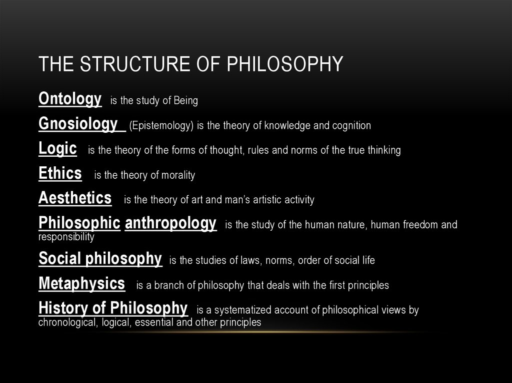 The Structure of Philosophy