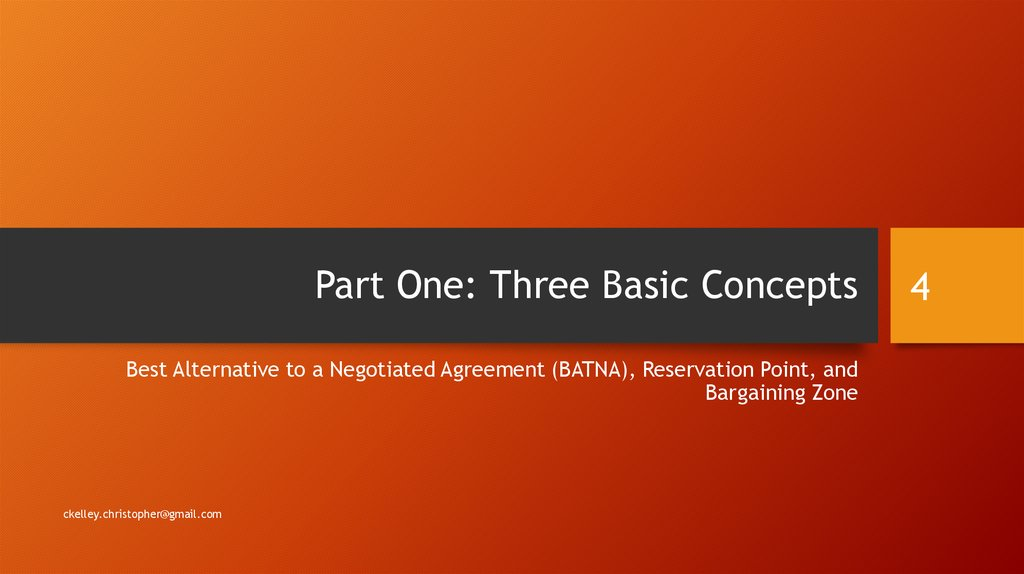 Part One: Three Basic Concepts