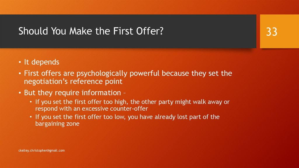 Should You Make the First Offer?