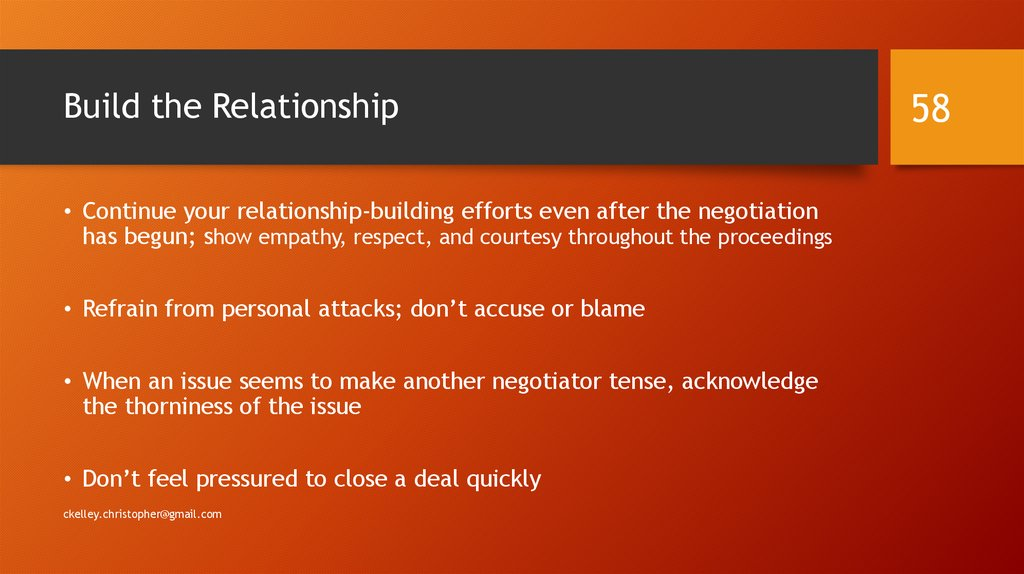 Build the Relationship