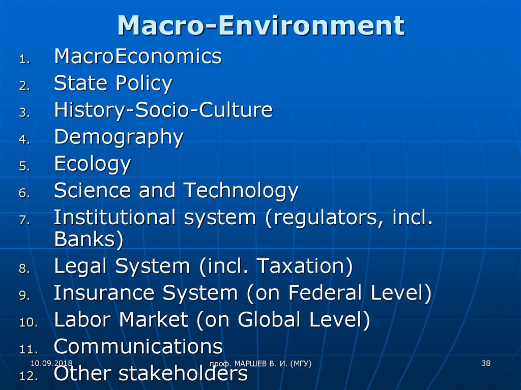 boeing macro environmental analysis The macro environment is the broader context within which a company conducts its commercial operations there are 6 factors of macro environment and it has a major affect on conducting business.
