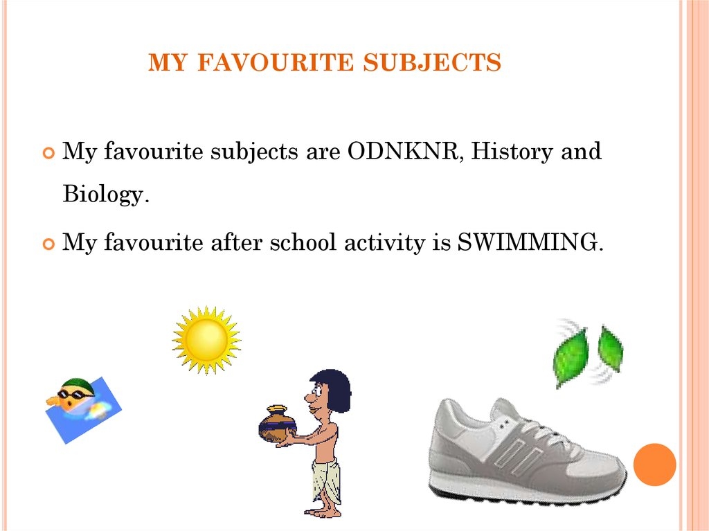my favourite subjects