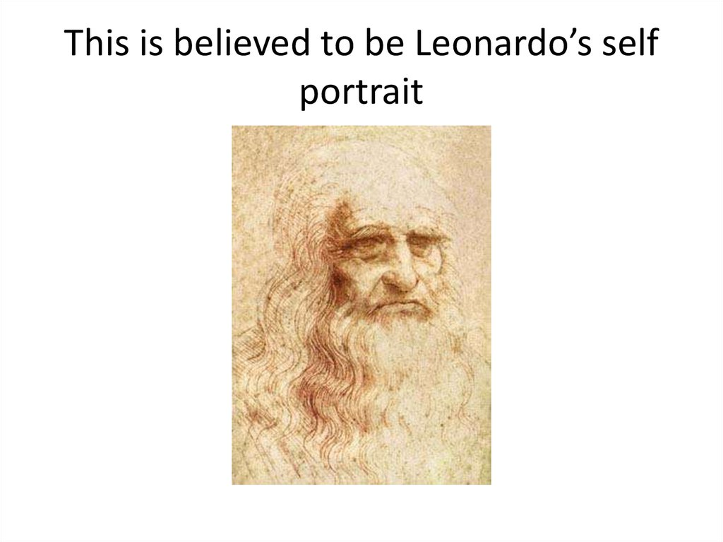 This is believed to be Leonardo's self portrait