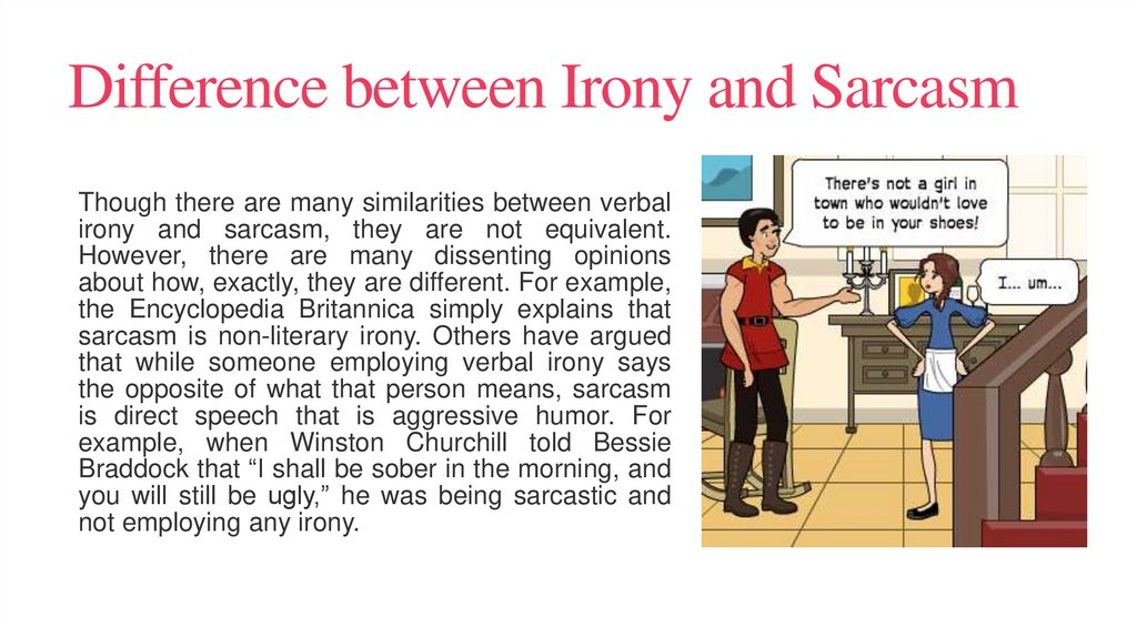 Difference between Irony and Sarcasm