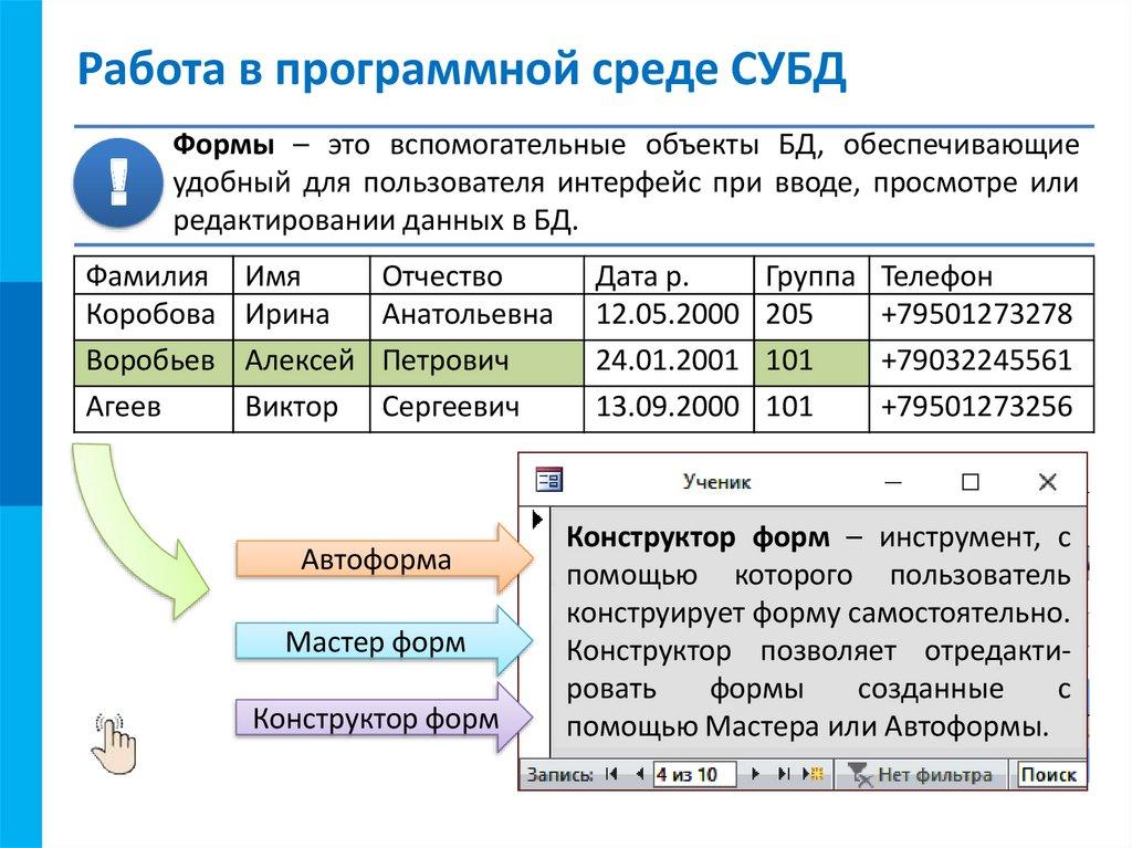 базы данных. системы управления базами данных курсовая работа