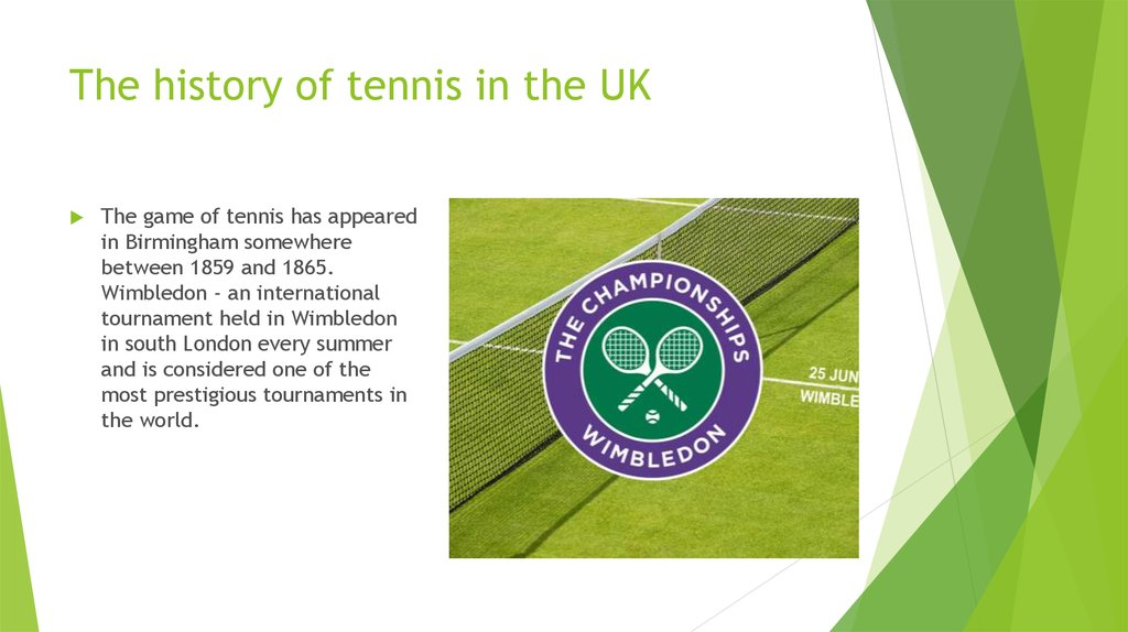The history of tennis in the UK
