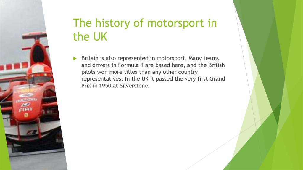 The history of motorsport in the UK