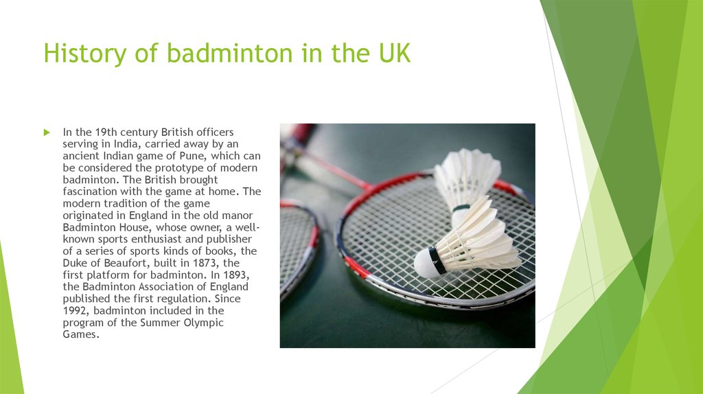 History of badminton in the UK