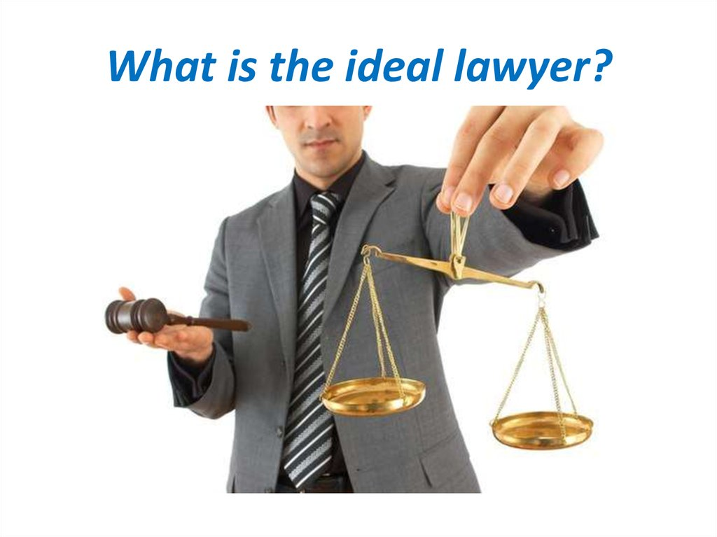 What is the ideal lawyer?