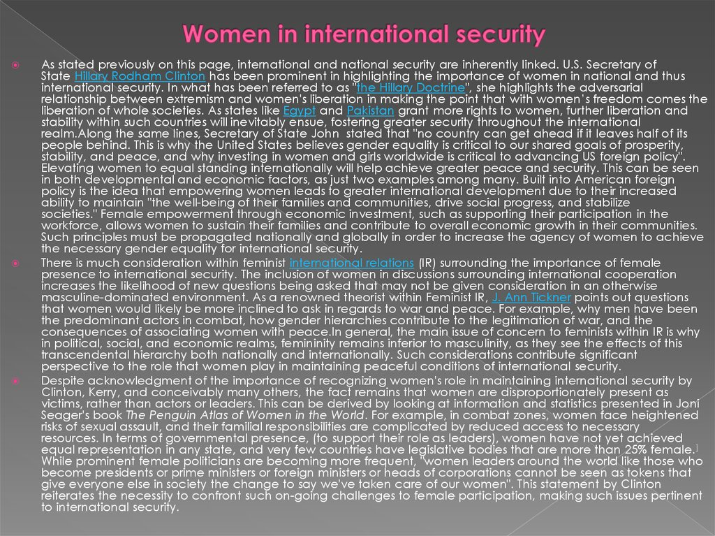 Women in international security