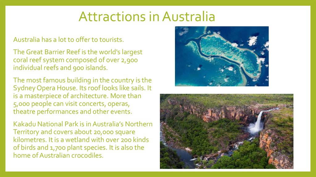 Attractions in Australia
