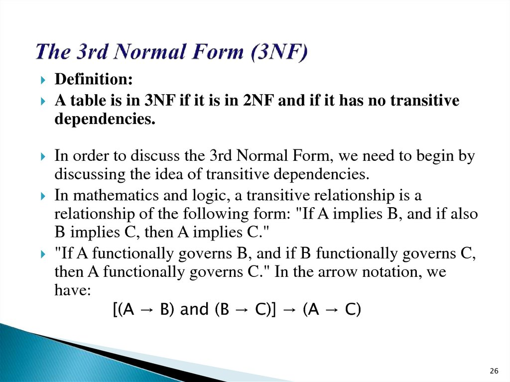 The 3rd Normal Form (3NF)