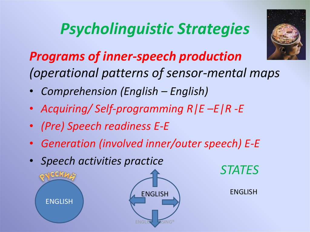 Psycholinguistic Strategies