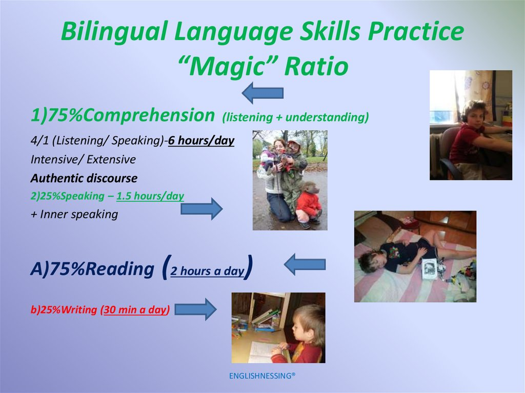 "Bilingual Language Skills Practice ""Magic"" Ratio"