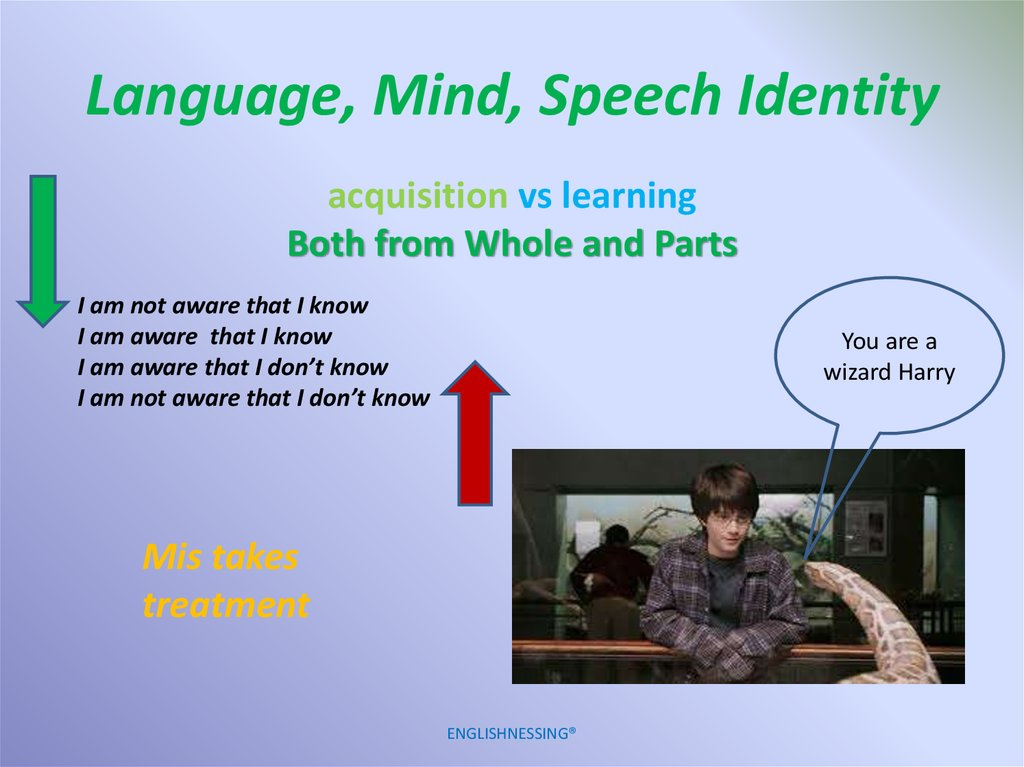 Language, Mind, Speech Identity