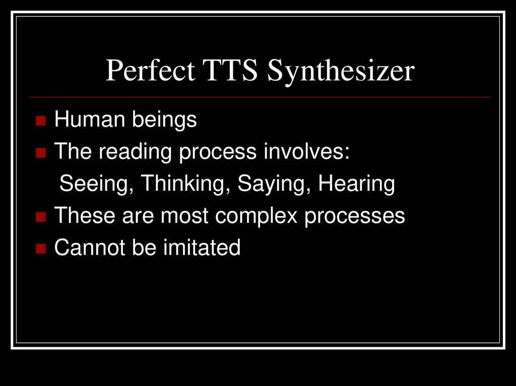 Perfect TTS Synthesizer