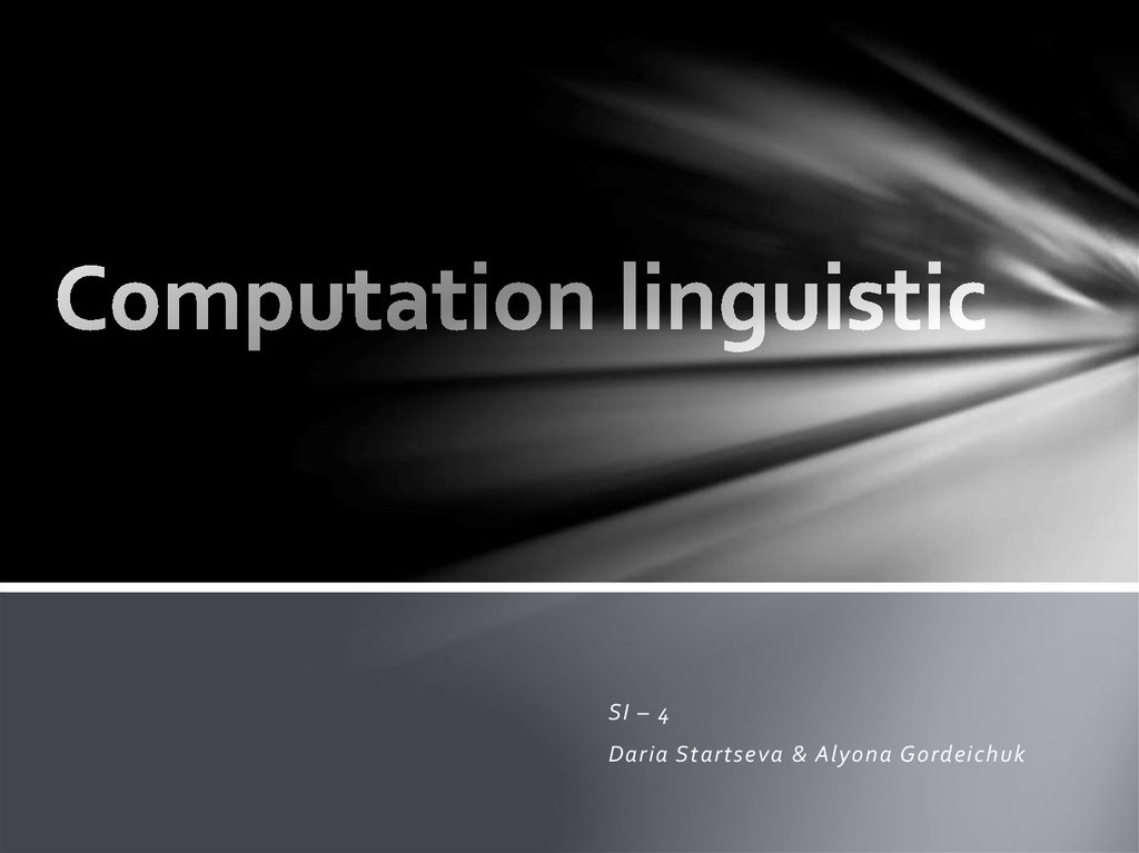 Computation linguistic