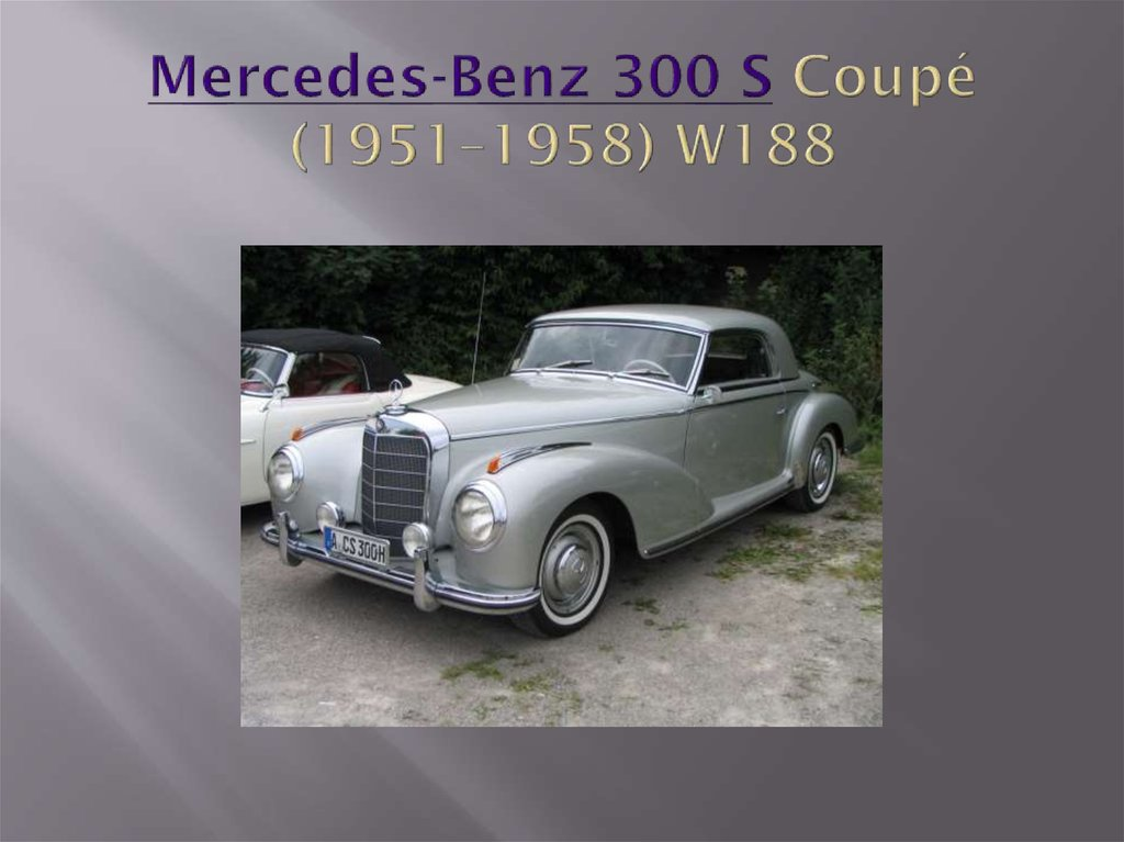 Mercedes-Benz 300 S Coupé (1951–1958) W188