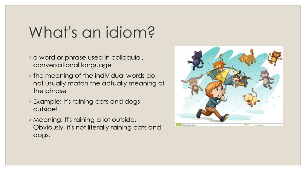 Idioms Online Presentation