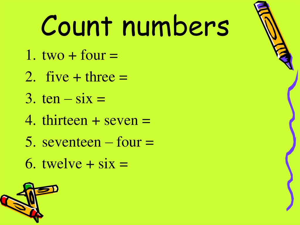 Count numbers