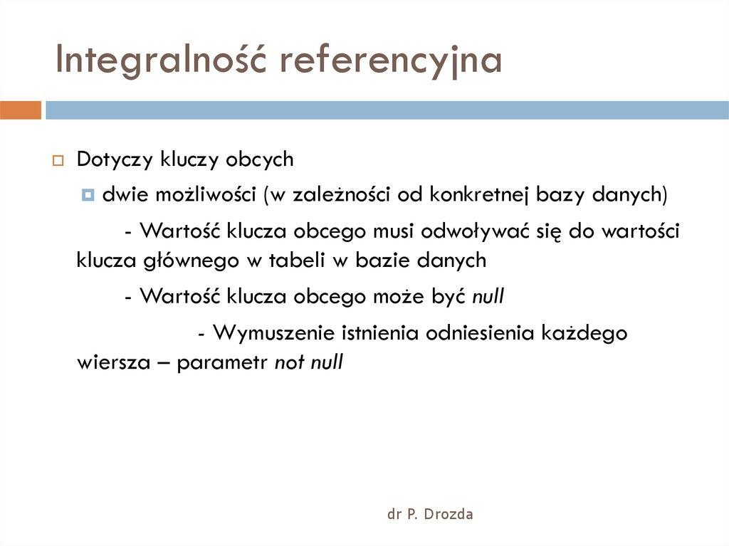 Bazy Danych Wprowadzenie Wykład 1 2 Online Presentation