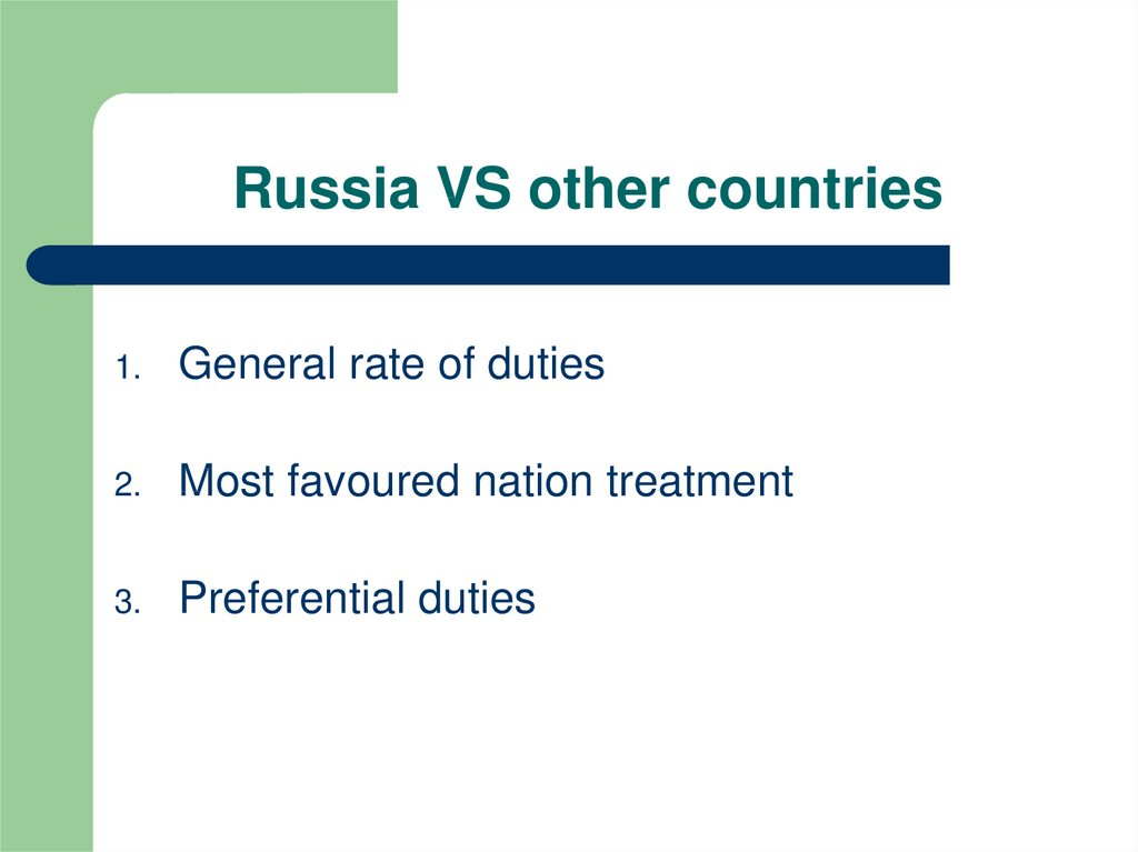 Russia VS other countries