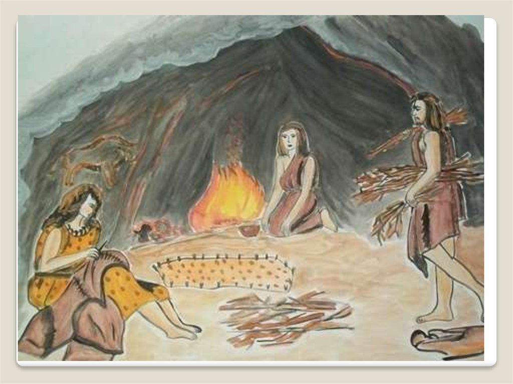 Картинка первобытного человека рисующего