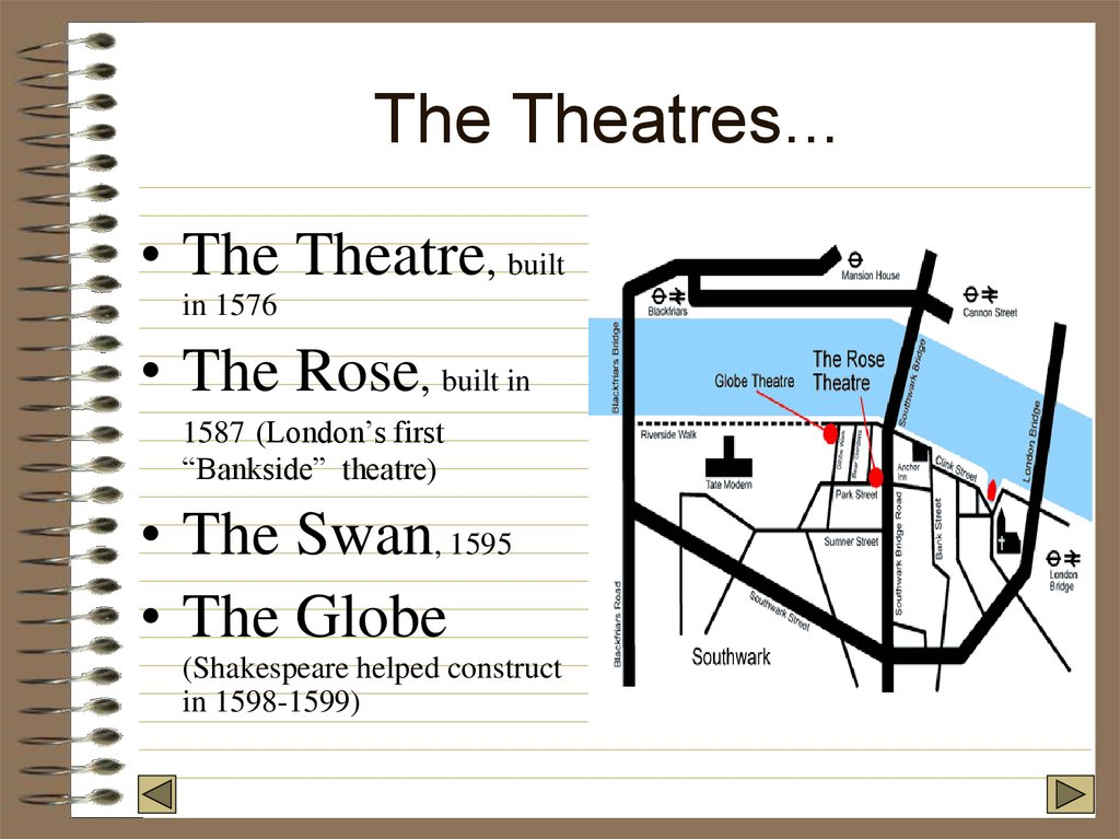 The Theatres...