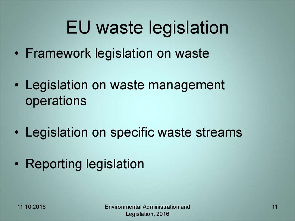 EU waste legislation