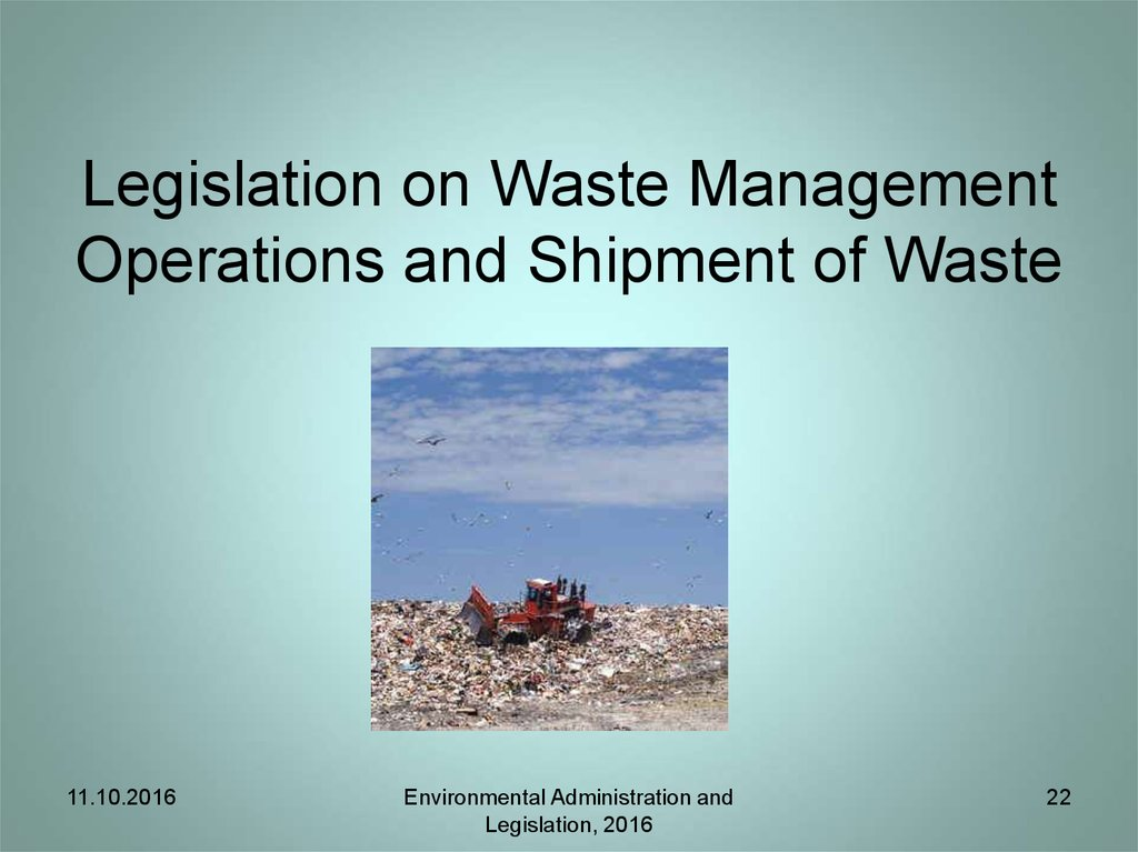 Directive on waste: Permits and Registrations