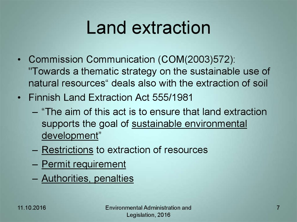 Land extraction