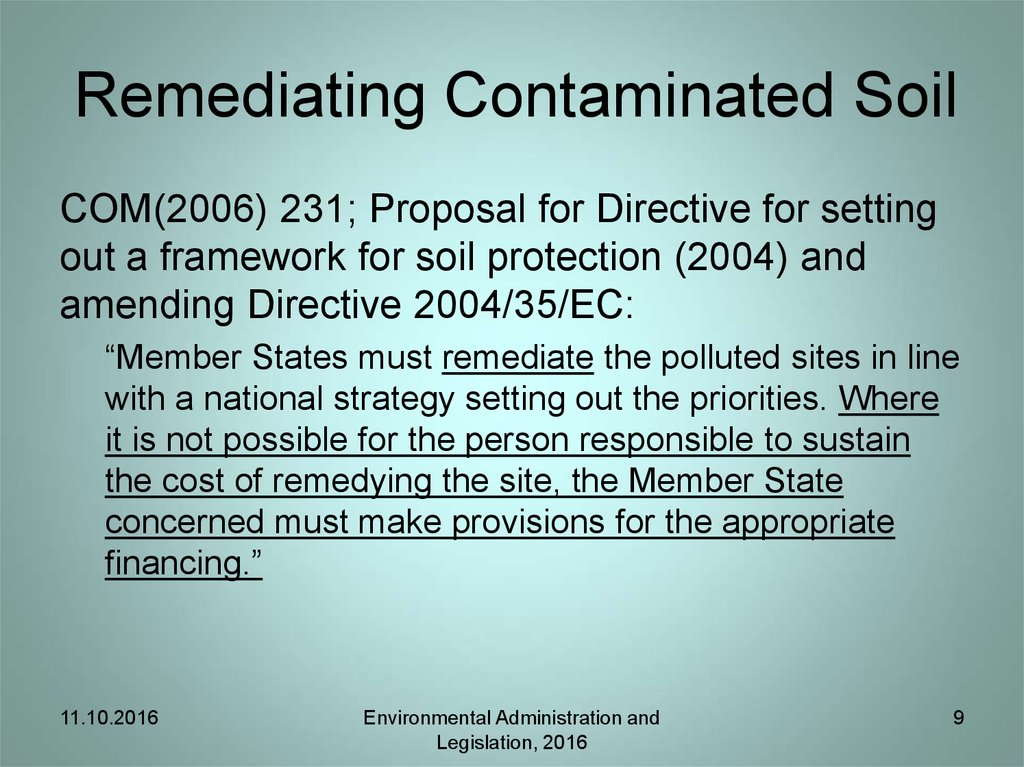 Remediating Contaminated Soil