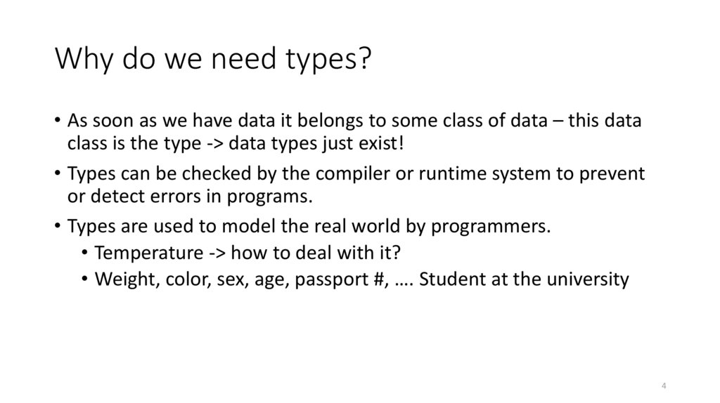 Why do we need types?