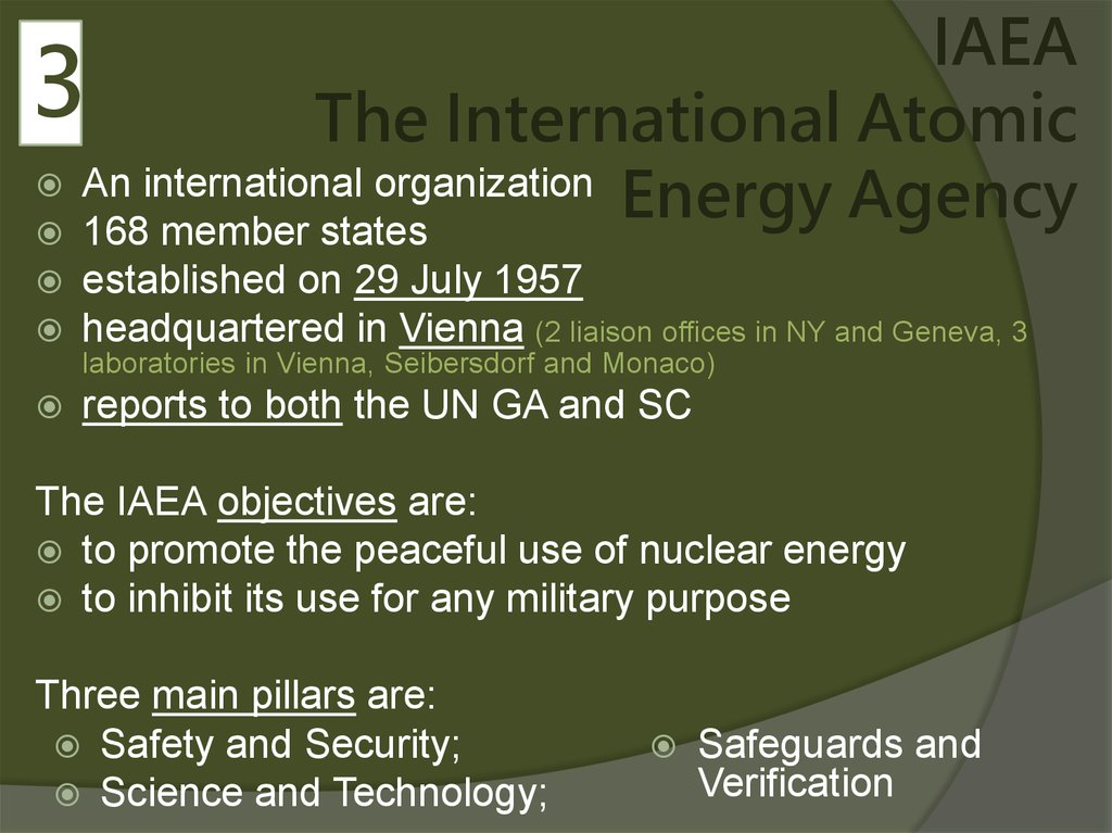 IAEA The International Atomic Energy Agency