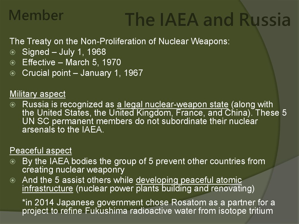 The IAEA and Russia