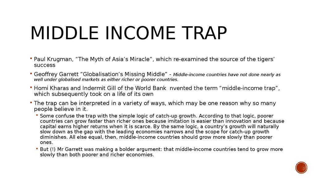 Middle income trap