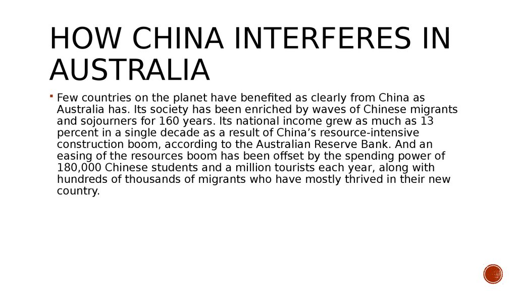 How China Interferes in Australia