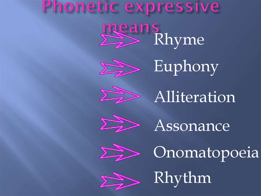 Phonetic expressive means