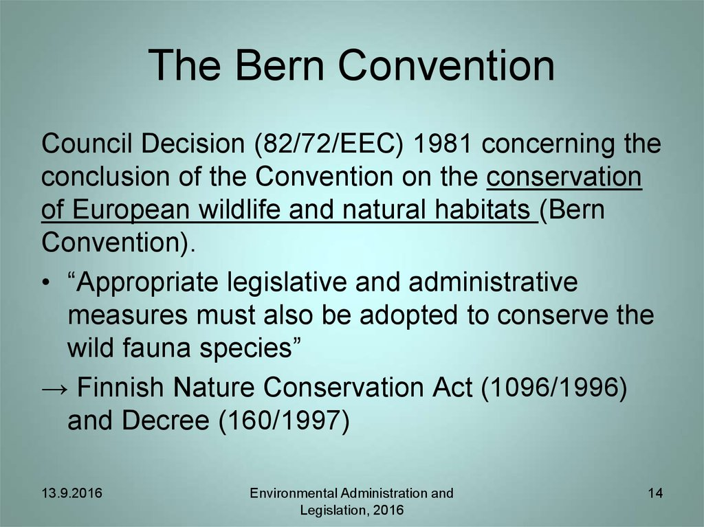 The Bern Convention