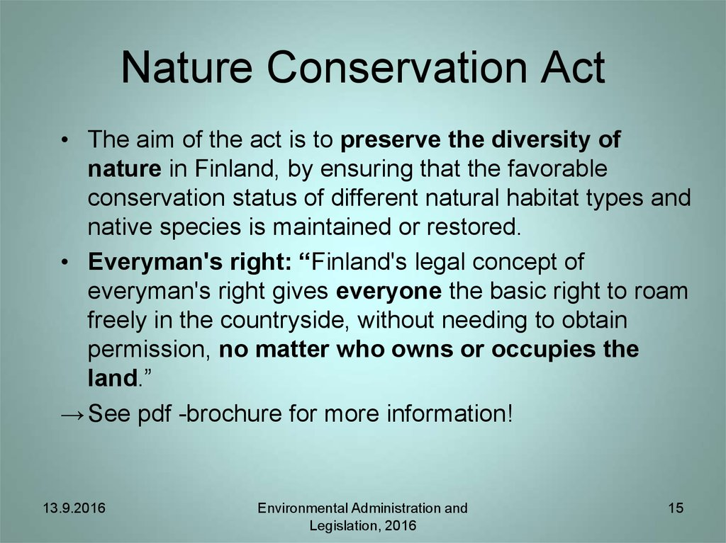 Nature Conservation Act