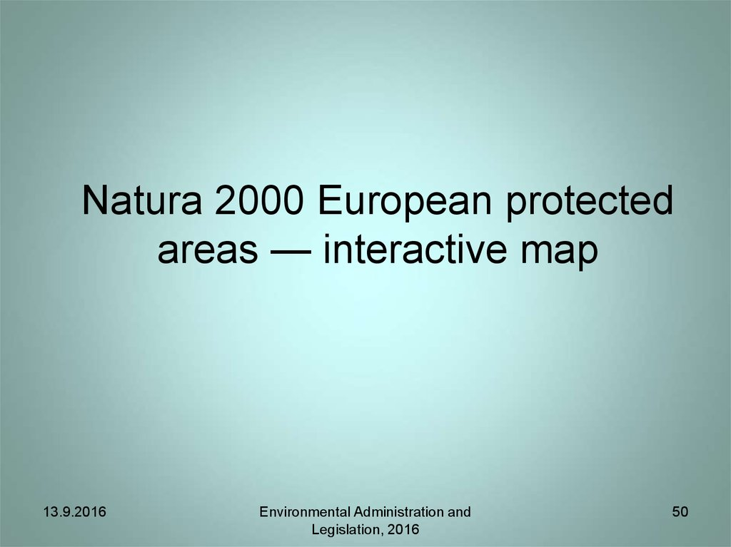 Natura 2000 European protected areas — interactive map