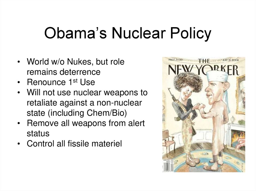 Obama's Nuclear Policy